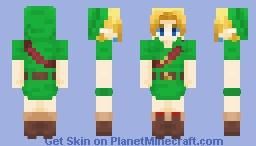 Young Link | Majora's Mask Minecraft Skin