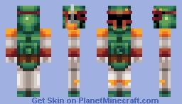 Green Mandalorian / Boba fett Minecraft Skin