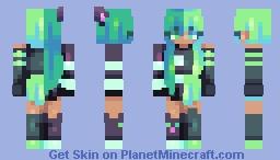 𝒸𝒽𝓁𝑜𝓇𝒾𝓃𝑒 // 𝓈𝓉 Minecraft Skin
