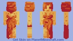 Deity of Fire . Contest entry / popreel- Minecraft Skin