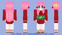 kayo sudou but she wears a short kimono because i said so Minecraft Skin