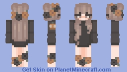  ~  Basic: Halloween Pumpkin Girl  ~  Minecraft Skin
