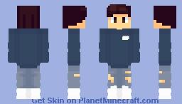 Dark Blue Sweater Minecraft Skin