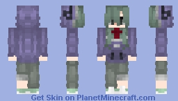 """""""In a staring-at-the-ground mood, today too, I'm hesitating over what to say.""""  Kido Tsubomi - Kagepro Minecraft Skin"""