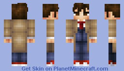 10th Doctor- David Tennant (Doctor Who 50th Anniversary Skin Series) Minecraft Skin