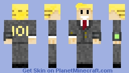 (Fallout) Vault Boy in Suit! Minecraft Skin
