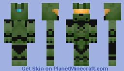 Master Chief 117- Halo Minecraft Skin