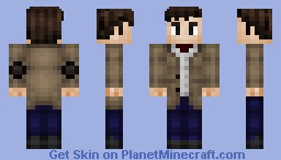 The 11th Doctor [NOW WITH 100% BETTER HAIR SHADING!] Minecraft Skin