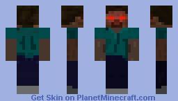 The Dark Lord Herobrine Minecraft Skin