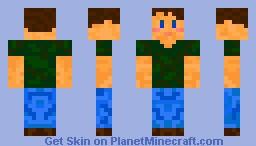 Camo T-Shirt Minecraft Skin