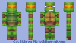 Michelangelo Skin (3D) Minecraft Skin