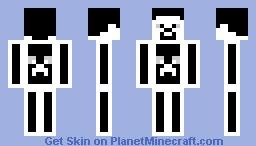 Black & White Steve Minecraft Skin