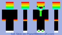 Rainbow Derp in Tuxedo Minecraft Skin