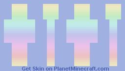 Pastel Rainbow Minecraft Skin