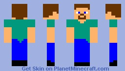 Toon Steve Minecraft Skin