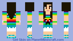 Girl with rainbow everywhere :) Minecraft Skin