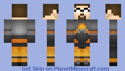 Gordon Freeman (Half-Life) Minecraft Skin