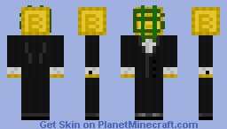 Mr. Bitcoin Minecraft Skin