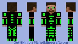Futuristic Steve Minecraft Skin