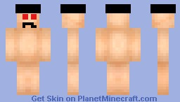 Naked Rabid Hobo With A Hat Minecraft Skin