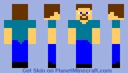 Pale Steve Minecraft Skin