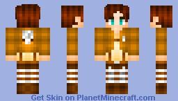 Eren jeahger-Attack on Titan Minecraft Skin