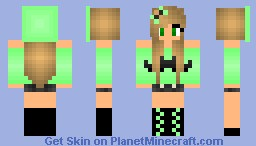 Green Girl 😎 Minecraft Skin