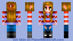 The Rebel (New hair shade! *Inspired by Donutz_And_Creamz's hair tutorial*) Minecraft Skin