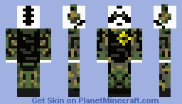 Military Panda (Revised from old one) Minecraft Skin