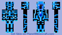 Nanovein blue (Inspired by Talon) Minecraft Skin