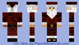 Santa with Cap. Minecraft Skin