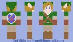Link from The Legend of Zelda Minecraft Skin