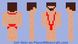 Retarted naked Minecraft Skin