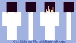 Template : Purple Soaked Hair + SkinColor Minecraft Skin