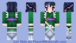 Wakasagihime from Touhou Project Minecraft Skin