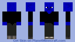 Blue Man Group by RSpudieD Minecraft Skin