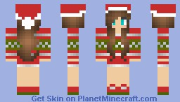 christmas girl v3 by justsasha minecraft skin. Black Bedroom Furniture Sets. Home Design Ideas