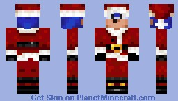 Santa Sonic The Hedgehog Minecraft Skin