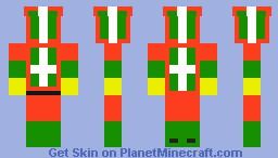 Present Man Minecraft Skin