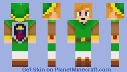 Link- A Link Between Worlds Minecraft Skin