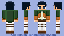 levi attack on titan request minecraft skin
