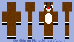 Rudolph The Red Nose Reindeer Minecraft Skin
