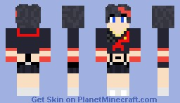 Ryuko Matoi 纏 流子 - Kill la Kill Minecraft Skin