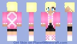★·.·´¯`·.·★ ηιкιтα ★·.·´¯`·.·★ - Me Breast Cancer fighter. Minecraft Skin