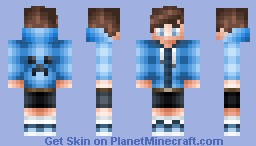 •agapl00• ~ ♂ BLUE BOY ♥ Minecraft Skin