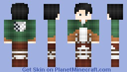 176lǝıɔ176 levi rivalle attack on titan minecraft skin
