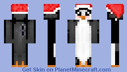 Toy Penguin with Santa Hat Minecraft Skin