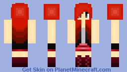 Fiery Red Minecraft Skin