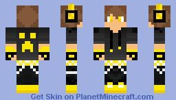 Yellow Hoodie Minecraft Skin