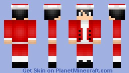 Punk (Santa Outfit) (Santa Workshop contest) (Re-done) Minecraft Skin